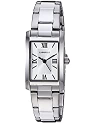Caravelle Womens Quartz Stainless Steel Dress Watch, Color:Silver-Toned (Model: 43L203)