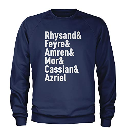 Crew Rhysand and Feyre Night Court Adult Large Navy Blue