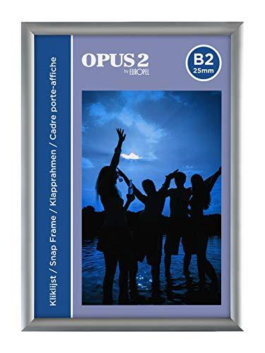OPUS 2 355012 - Marco de aluminio con sistema Easy-Click, B2, 50 x 70 cm, 25 mm
