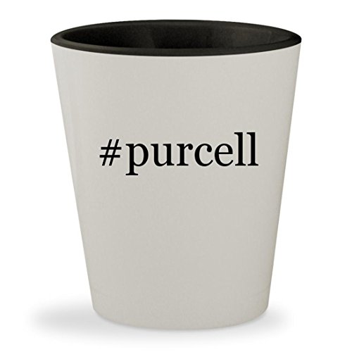 #purcell - Hashtag White Outer & Black Inner Ceramic 1.5oz Shot - Glasses Purcell