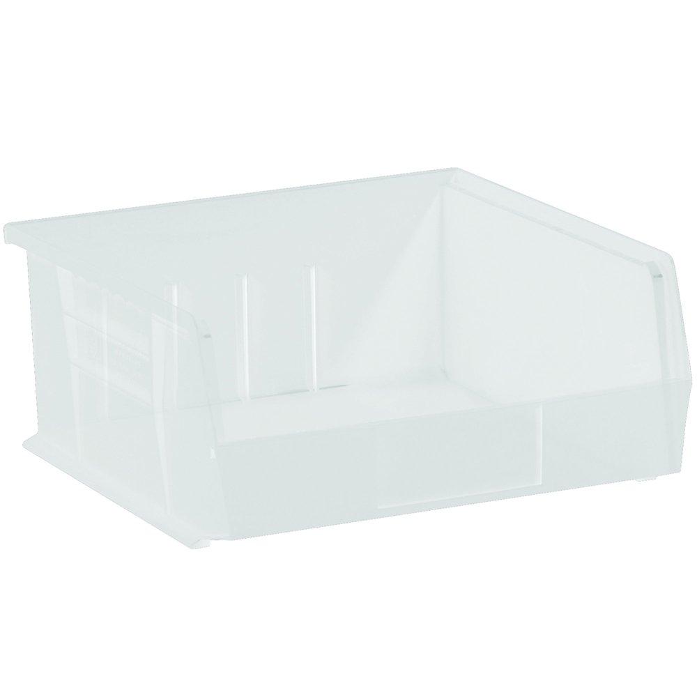 Aviditi Plastic Stack & Hang Bin Boxes, 10 7/8'' x 11'' x 5'', Clear, Pack of 6 (BINP1111CL) by Aviditi