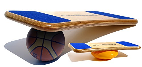 CoolBoard Balance Board –The only true 3D / 360 balance & exercise training board – Medium with Easy Start Balance Disc & Inflatable Ball. Wobble Board, rocker board, balance trainer by CoolBoard