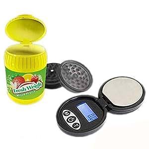 Báscula de baño 500G/0.1g & Grinder en forma de recinto de Chewing Gum