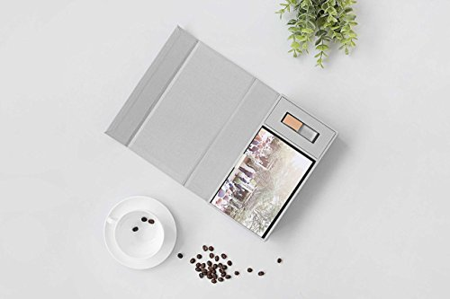 - 4x6 Photography Prints and USB Presentation Box - Handcrafted with Grey Cotton Cloth