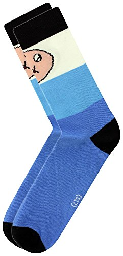 Official Licensed Men's Adventure Time Finn Character Crew Socks