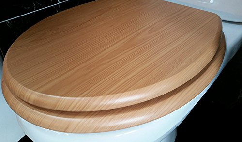 Antique Pine (cedar) - MDF Wood Effect Toilet Seat- 82987 Euroshowers