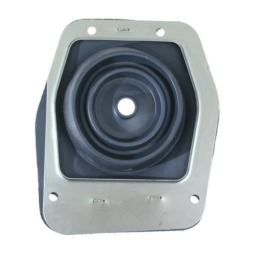 MUSTANG FORD LOWER SHIFT BOOT WITH METAL TRIM RING 1979-2004