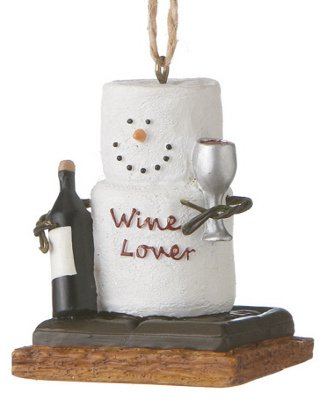 Christmas Decoration S'mores Wine Lover Christmas/Everyday (Smore Ornament)