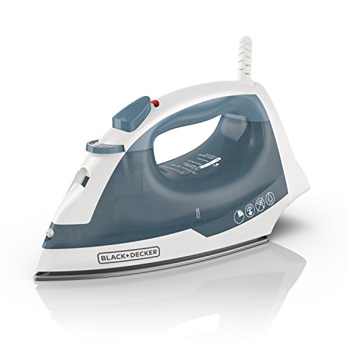 BLACK+DECKER IR40V Easy Steam Nonstick Compact Iron with Automatic Shut Off & Anti Drip