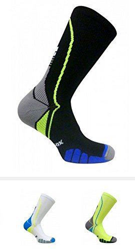 Vitalsox VT5810 Italian Support & Odor Control Crew Socks (1 pair- fitted) Best For Running, Travel, Yoga, Gym, Basketball, Sports Yellow, Large by Vitalsox (Image #4)