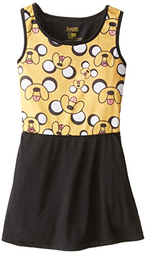 Adventure Time Girls' Big Roller Derby Jake Pajamas, Golden 7/8 -