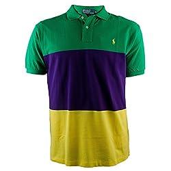 Polo Ralph Lauren Men's Classic Fit Mesh Polo Shirt-GreenMulti