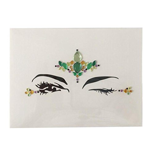 Face Stickers, Hometom Crystal Temporary Eyes Tattoo Transfe