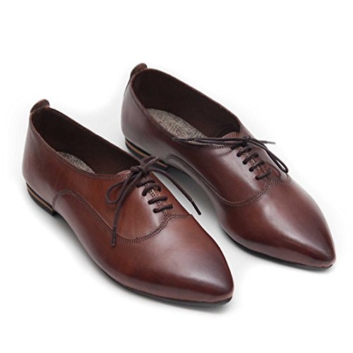 Brown Handmade Bangi Oxford Women Shoes Leather ZXvdn0vx