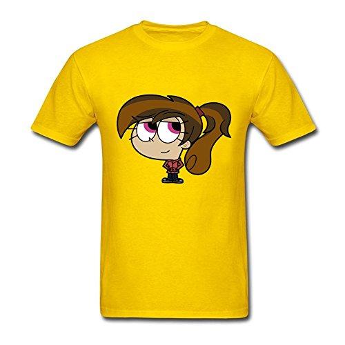 Fairly Odd Parents Costumes (Hot Topic Mens fairly oddparents cupcake slash Round Neck Short Sleeve T-Shirt Yellow S Costume)