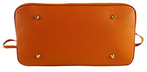 Borsa con tracolla in Vera pelle Made in Italy modello New Birki arancio