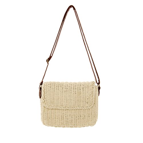 Peerless Natural Beach Rectangular Beige Sunmmer Straw Bag Vintage Hand Crossbogy Chic woven Vacation Womens Bags SwSqCaxRHr