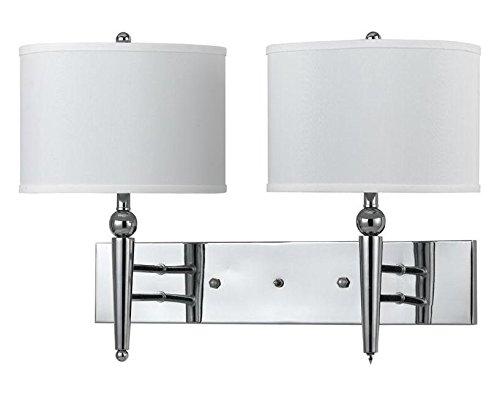 Cal Lighting LA-80002WL-1BS Brushed Steel Metal Wall Lamp