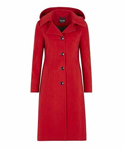 Cr Coat Hooded Womens Red Cashmere De me la Anastasia Winter S5cvn8qw