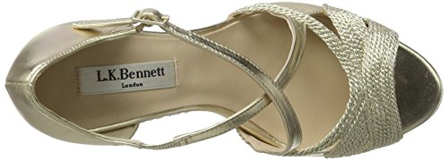 Gold Heels Wedge Juliette Women's LK soft Sandals Gold BENNETT Pvq8zz