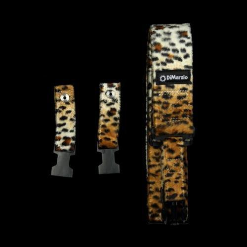 DiMarzio DD2230 Cliplock Guitar Strap Cheetah