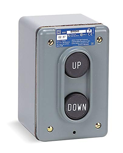 Square D Push Button Control Station, 2NO Contact Form, Number of Operators: 2 - 9001BW243
