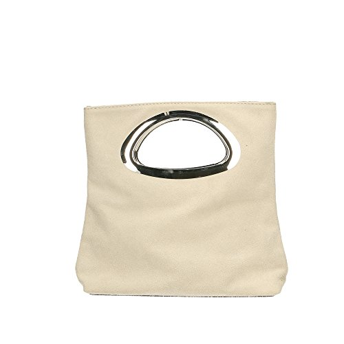 à de main véritable la Italy Sac Aren in Beige en Made 26x25x8 femme Cm cuir xSwRg