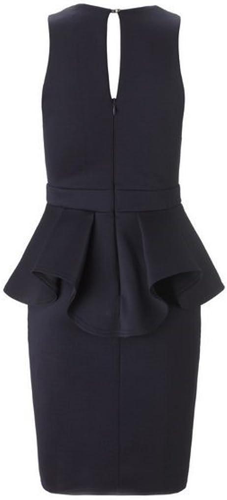 Fashion Office Dress V-Neck Knee Length Bodycon Dress Formal Dresses Large Black