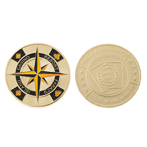 liumiKK Gold Plated Commemorative Coin Las Vegas Casino Lucky Poker Card Guard Souvenir