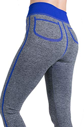 De Avec Femmes Mxnet Bleu Entraînement À Pantalon Taille Pour Séchage Jambières Running Haute Sport Rayures Rapide r0fwq6f5x