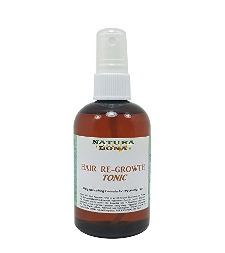Natura Bona Hair Regrowth Tonic & Daily Nourishing Spray Treatment for Dry to Normal Hair. Made from all Organic Ingredients known to promote new hair growth and maintain heathier hair, 4.4 oz. Spray
