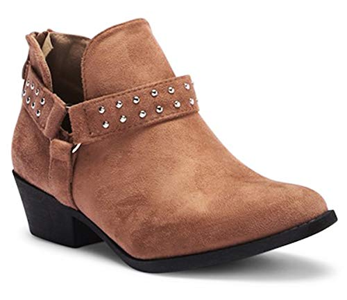 Best Back to School Sexy Fashion Pointed Toe Comfy Heel V Cut Boho Boot Bootie Shoe for Women Big Girls (Taupe Size 8)