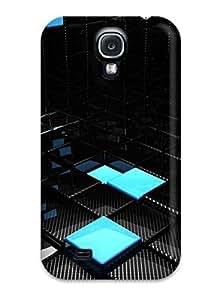 Fashion UEliZ37TGOzu Case Cover For Galaxy S4(hd Abstract Black)