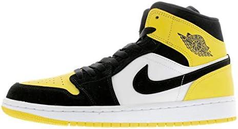 エアジョーダン 1 ミッド AIR JORDAN 1 MID SE YELLOW TOE black/black-tour yellow-white 852542-071 スニーカー AJ1 イエロートゥ [並行輸入品]