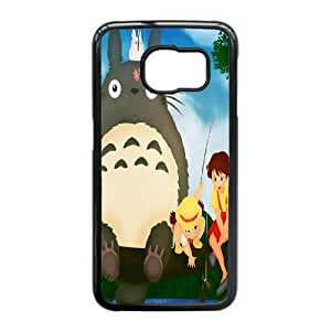 Plastic Durable Cover Samsung Galaxy S6 Edge Cell Phone Case Black Geysy My Neighbour Totoro Durable Phone Case