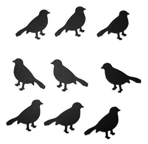 """Custom & Fancy {1"""" Inch} 40 Pieces of Large """"Table"""" Party Confetti Made of Premium Card Stock w/ Dark Scary Halloween Crow Bird Silhouette Shadow Shape Scatter Craft Topper Design [Black] ()"""