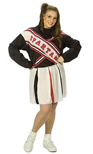 Female Spartan Cheerleader Costumes (Saturday Night Live Female Spartan Cheerleader Plus Size Costume)