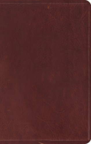 (The Holy Bible: English Standard Version, Thinline, Brown Natural Leather)