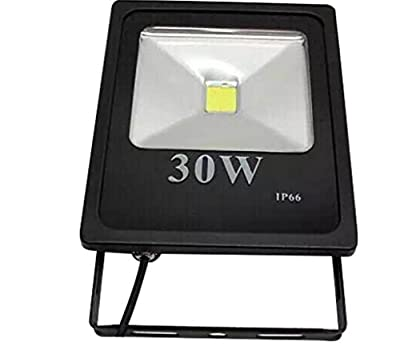 JKLcom LED Flood Lights 30W Security Lights Flood Lights IP 66 Waterproof Floodlight Lamp 30W Waterproof IP66,3000lm,Cool White, 6000K