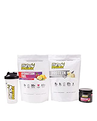 Ryno Power The Essentials: Vanilla - Fitness and Sports Supplements Before, During, After Workouts / Training - Protein and Hydration