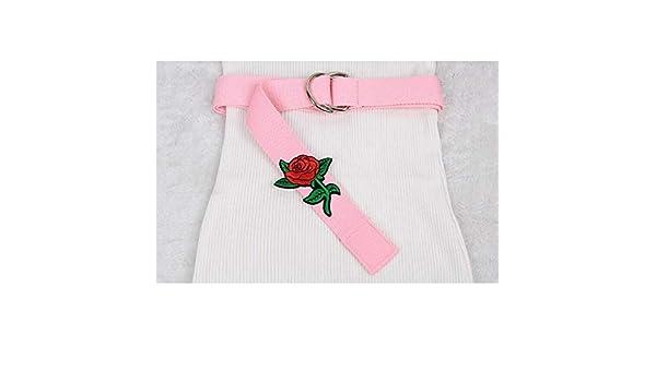 QUQIUB Cinturones De Bordado De Flores Rosas para Mujer Vestido ...