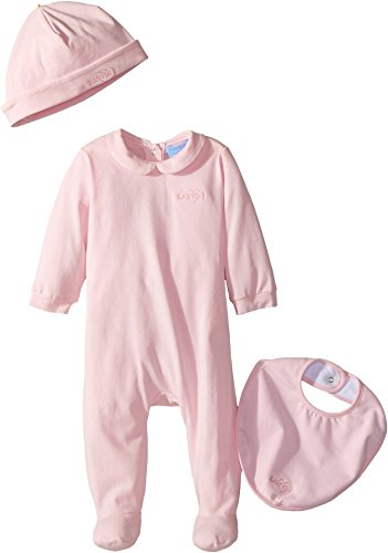 Lanvin Kids Baby Girl's Logo Collar Footie/Hat/Bib Gift Set (Infant) Pink 9 by Lanvin Kids