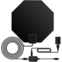 TV Antenna, ASONRL Indoor Digital TV ANTENNA Paper Thin Amplified-50 Miles Range Indoor Amplified HD TV Antennas with Attached 16.5ft Coax Cable for Better Reception,Black