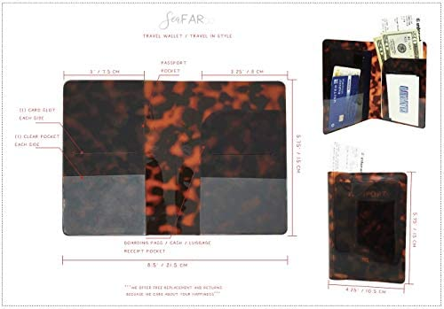 Details about  /Tortoise Shell Travel Passport Wallet Holder Cover Translucent Leopard Pvc