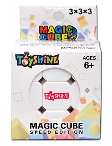 Toyshine High Stability Stickerless – 3x3x3 Speed Cube, Multi Color