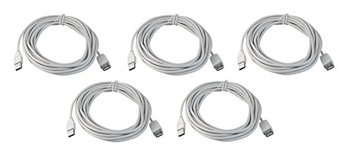 Your Cable Store Five Pack of 15 Foot USB 2.0 Extension Cables (A Male to A Female)
