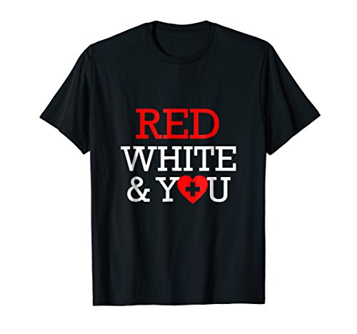 (Red Cross T Shirt for Volunteer. Lifeguard Staff Tee Shirt)
