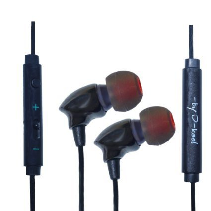 I-Kool Sound-101 Precision Noise Isolating Porcelain Cast Crisp Sound Earbud Style Earphones (Black Sapphire)