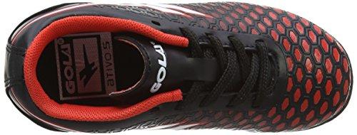 Gola Ion Vx, Zapatillas de Fútbol Unisex Niños Negro (Black/red)