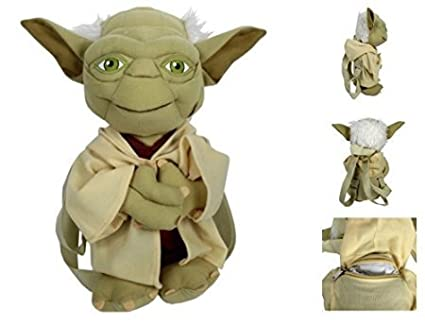 408f7d7600d Image Unavailable. Image not available for. Color  Star Wars Yoda Boys  Plush Backpack